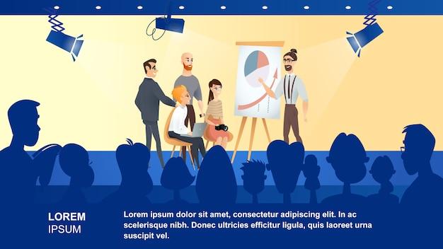 Illustration d'une émission de télévision sur les affaires