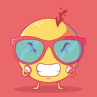 Illustration emoji stressée. communication, émotion, icône, concept de design technologique.