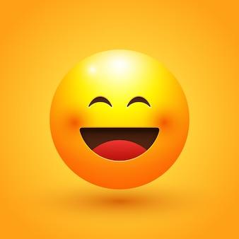 Illustration d'emoji de visage heureux