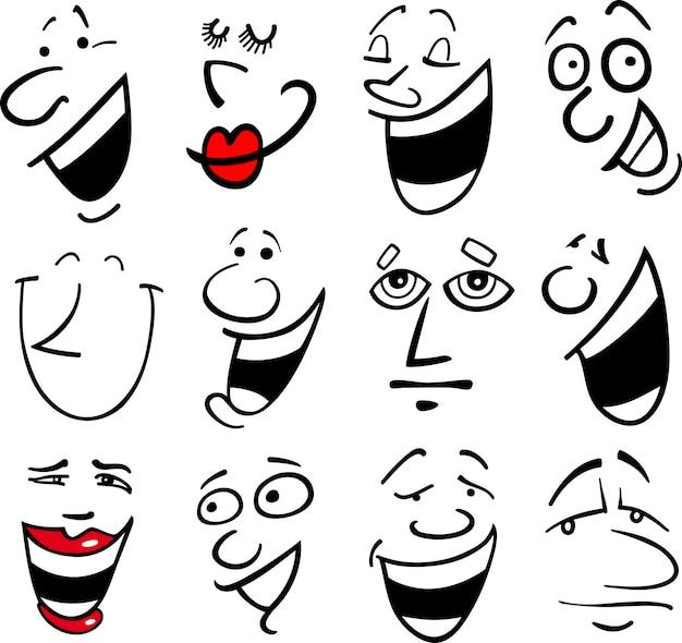 Illustration des émotions de dessin animé