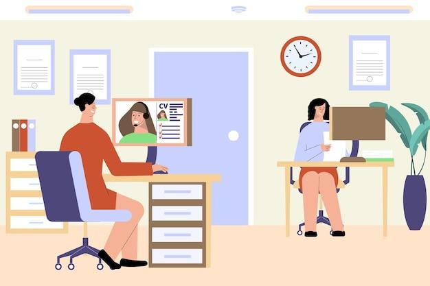 Illustration d'emploi d'entrevue