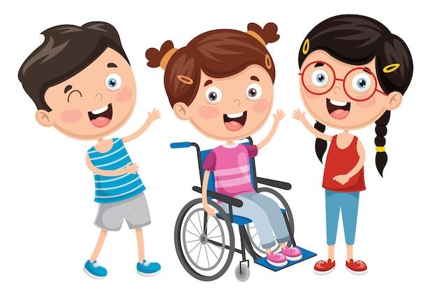 Illustration de l'enfant handicapé