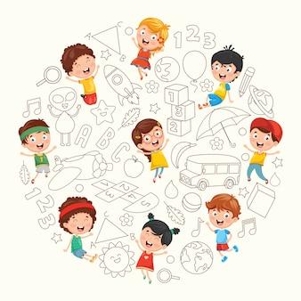 Illustration d'enfants croquis