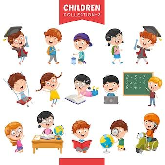 Illustration d'enfants dessinés