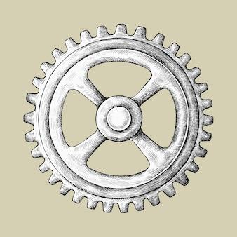 Illustration d'engrenage dessiné à la main