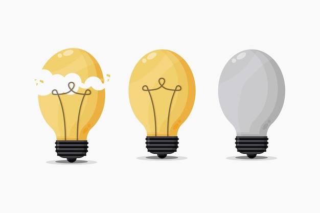 Illustration de l'ensemble d'ampoules