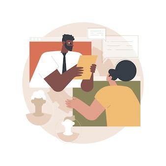Illustration d'entretien d'embauche