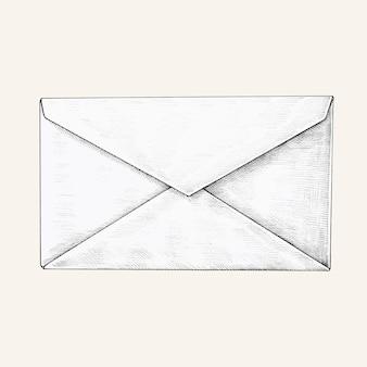 Illustration de l'enveloppe blanche dessinée à la main
