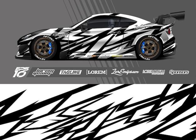 Illustration d'enveloppe de décalque de voiture de sport