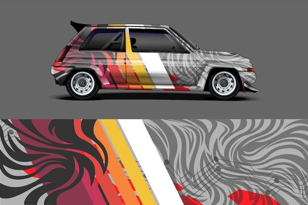 Illustration d'enveloppe de décalque de voiture