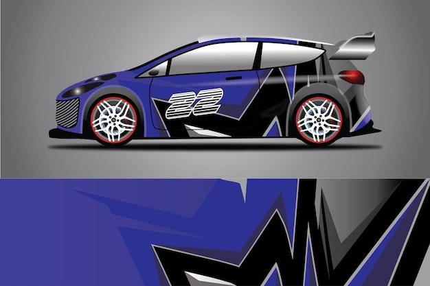 Illustration d'enveloppe de vecteur de décalque de voiture