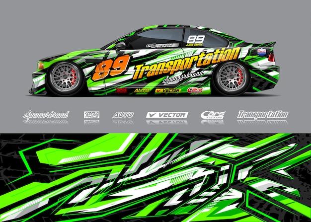 Illustration d'enveloppe de voiture de course