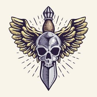 Illustration de l'épée volante premium