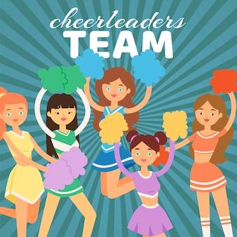 Illustration de l'équipe de cheerleading