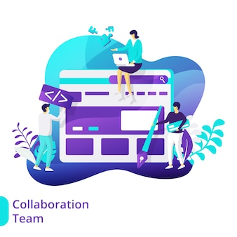 Illustration de l'équipe de collaboration
