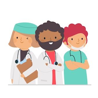 Illustration de l'équipe de professionnels de la santé