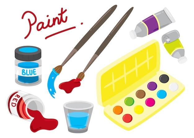 Illustration de l'équipement de peinture