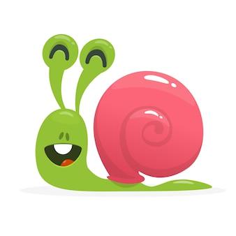 Illustration d'escargot drôle de dessin animé