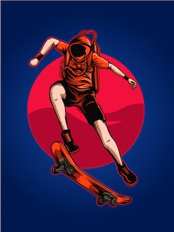 Illustration de l'espace astro skate