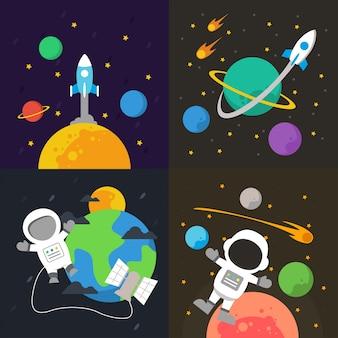 Illustration de l'espace extra-atmosphérique
