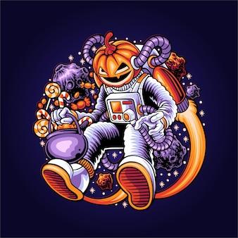 Illustration de l'espace halloween