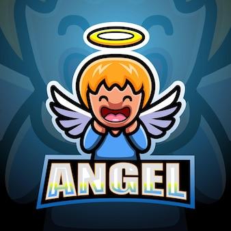 Illustration d'esport mascotte ange