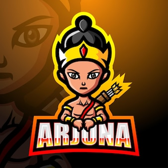 Illustration d'esport mascotte arjuna