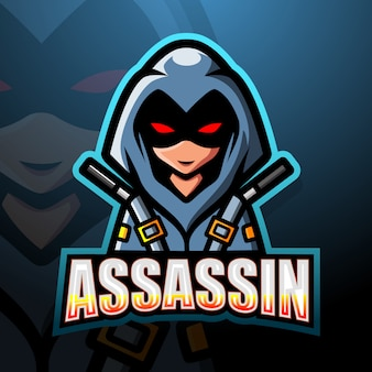 Illustration d'esport mascotte assassin