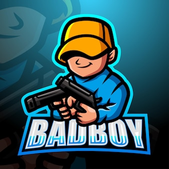 Illustration d'esport mascotte bad boy