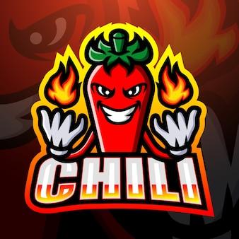 Illustration d'esport mascotte chili