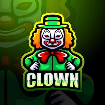 Illustration esport mascotte clown