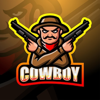 Illustration d'esport mascotte cowboy