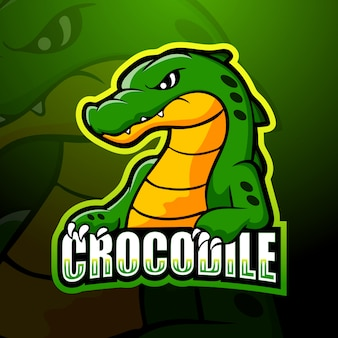 Illustration d'esport de mascotte de crocodile