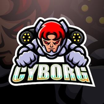 Illustration d'esport mascotte cyborg