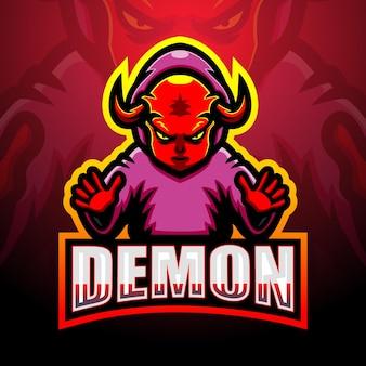 Illustration d'esport mascotte démon
