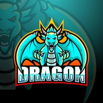 Illustration esport de mascotte de dragon