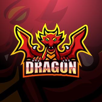 Illustration d'esport de mascotte de dragon
