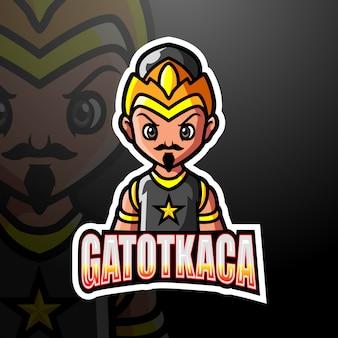 Illustration esport de la mascotte gatotkaca
