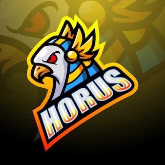Illustration d'esport mascotte horus