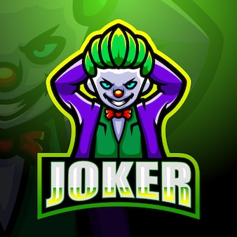 Illustration d'esport mascotte joker