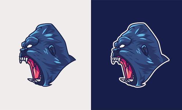 Illustration d'esport de mascotte de king kong