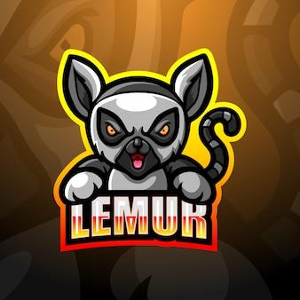 Illustration d'esport mascotte lémurien