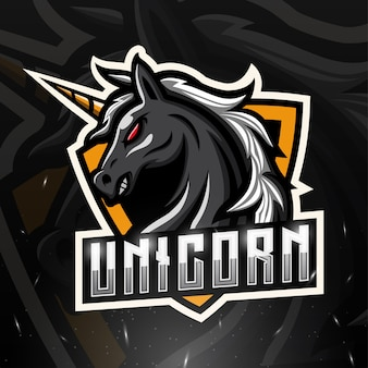 Illustration d'esport mascotte licorne