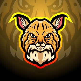 Illustration d'esport mascotte lynx