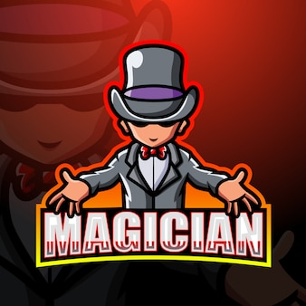 Illustration d'esport mascotte magicien