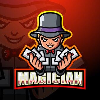 Illustration d'esport mascotte magicien