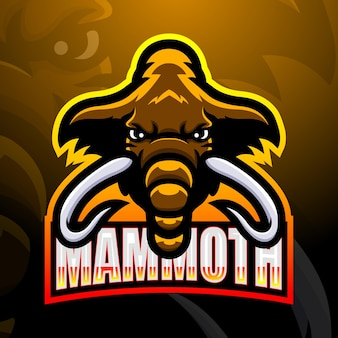Illustration d'esport mascotte mammouth