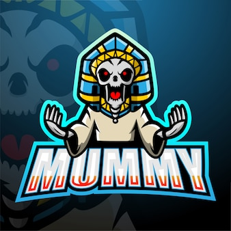 Illustration esport de mascotte momie
