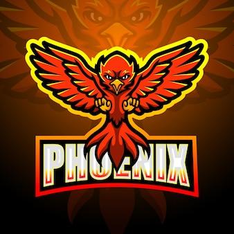 Illustration d'esport de mascotte de phoenix