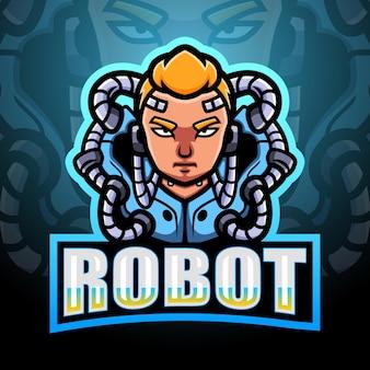 Illustration d'esport de mascotte de robot